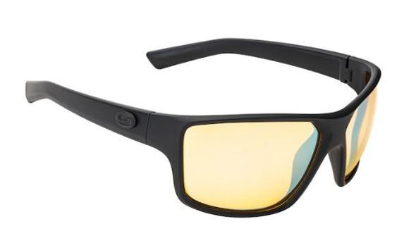 Strike King - S11 Optics Clinch Sunglasses - Matte Black-Yellow Silver Mirror Lens