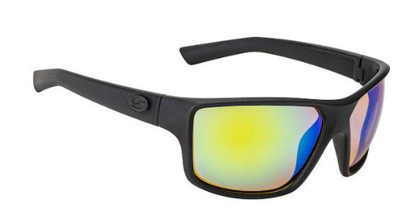 Strike King - S11 Optics Clinch Sunglasses - Matte Black -Green Mirror Amber Lens