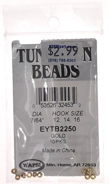 "Wapsi Tungsten Beads - 10 per pack - Gold 7/64"""