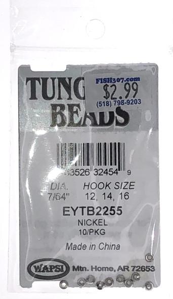 """Wapsi Tungsten Beads - 10 per pack - Nickel 7/64"""""""