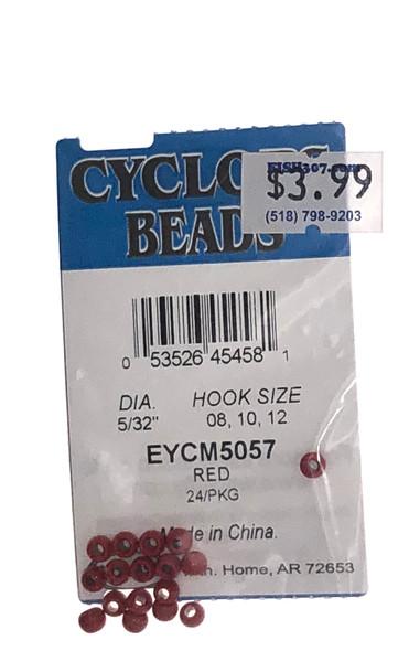 """Wapsi Cyclops Beads - 24 per pack - Red 5/32"""""""