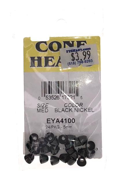 Wapsi Cone Heads - 24 per pack - Black Nickel MED