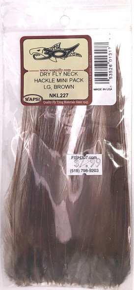 Wapsi Dry Fly Neck Hackle Mini Pack Large - Brown