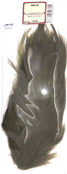Wapsi Streamer Rooster Neck #1 - Olive