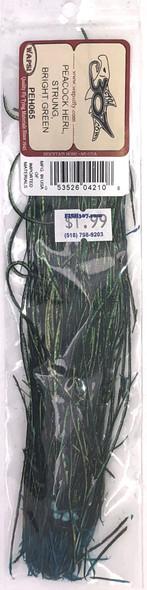 Wapsi Peacock Herl Strung - Bright Green