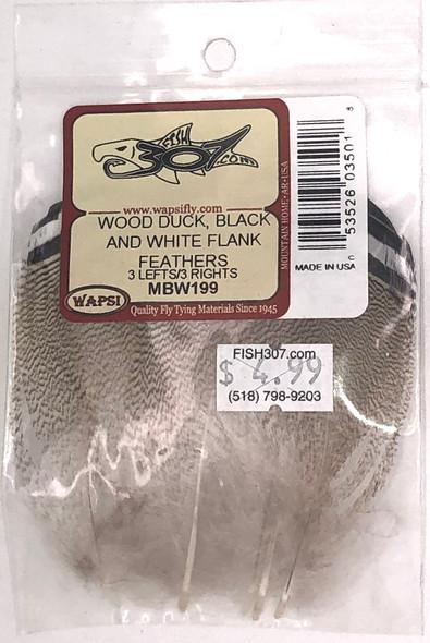 Wapsi Wood Duck - Black & White Flank Feathers