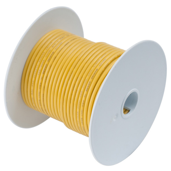 Ancor Yellow 18 AWG Tinned Copper Wire - 100'