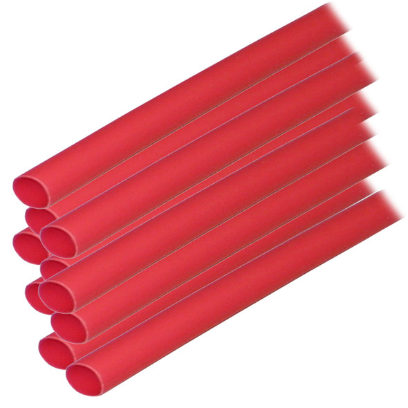 "Ancor Adhesive Lined Heat Shrink Tubing (ALT) - 1/4"" x 12"" - 10-Pack - Red"