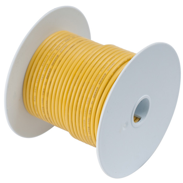 Ancor Yellow 10 AWG Tinned Copper Wire - 100'
