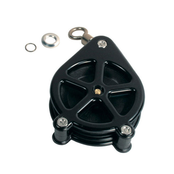 Big Jon Downrigger Part KT3049 - 5 Spoke Tip Pulley w/ Swivel, Retainer & Ring
