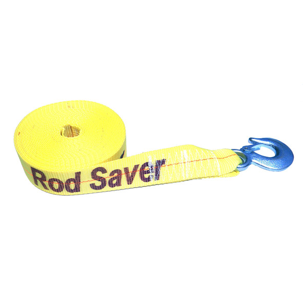 """Rod Saver Heavy-Duty Winch Strap Replacement - Yellow - 2"""" x 30'"""