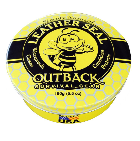 Outback Leather Seal Cleaner and Conditioner 150g/5.5oz Tin