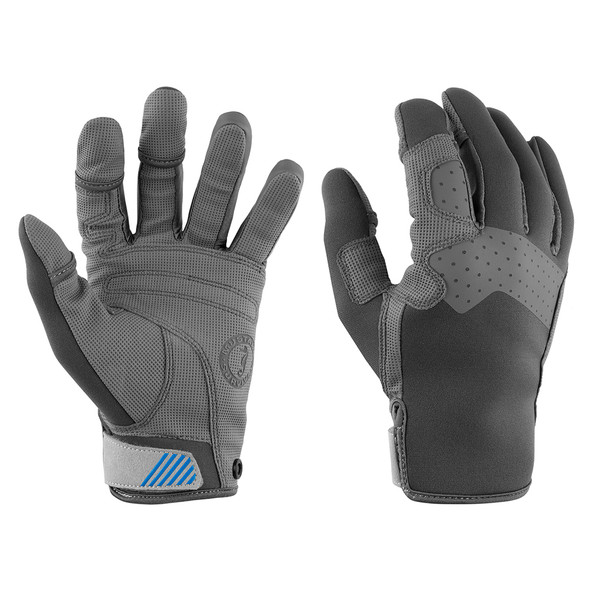 Mustang Traction Full Finger Glove - Gray/Blue - Small