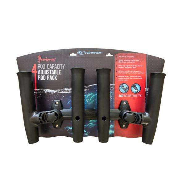 Seahorse® Adjustable Rod Holder Rack by Troll-Master - 4 Rod Rack
