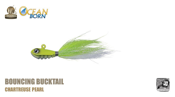 Band of Anglers OCEAN BORN™ - Bouncing Bucktail - Chartreuse Pearl