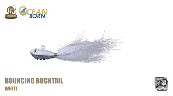 Band of Anglers OCEAN BORN™ - Bouncing Bucktail - White
