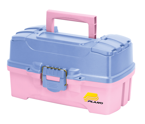 Plano 2 Tray Tackle Box W/ Dual Top Access Periwinkle / Pink