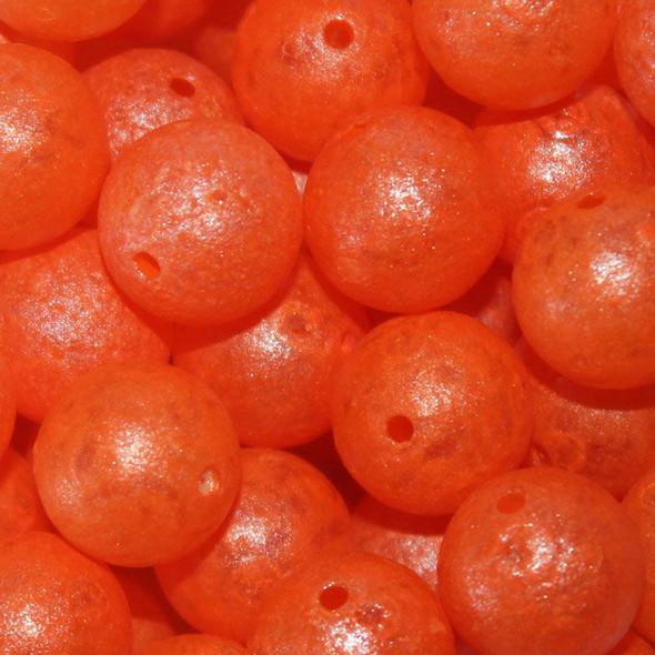 Troutbeads - 10mm 15ct - Glowbeadz Orange Glow