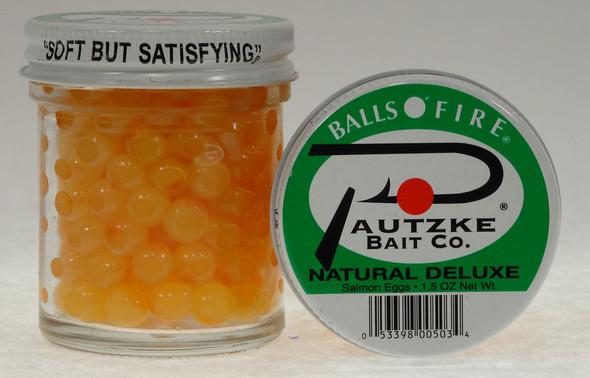 Pautzke BALLS O FIRE - Salmon Eggs NATURAL DELUXE 15 OZ
