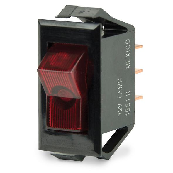 BEP Illuminated SPST Rocker Switch - Red LED - 12V - OFF/ON