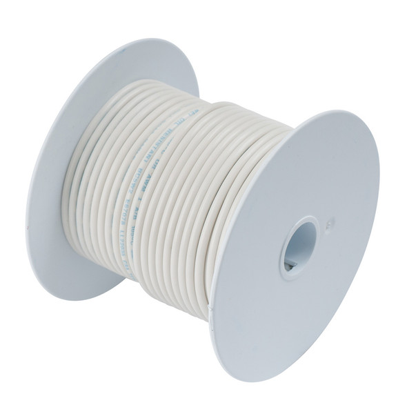 Ancor White 8 AWG Tinned Copper Wire - 100'