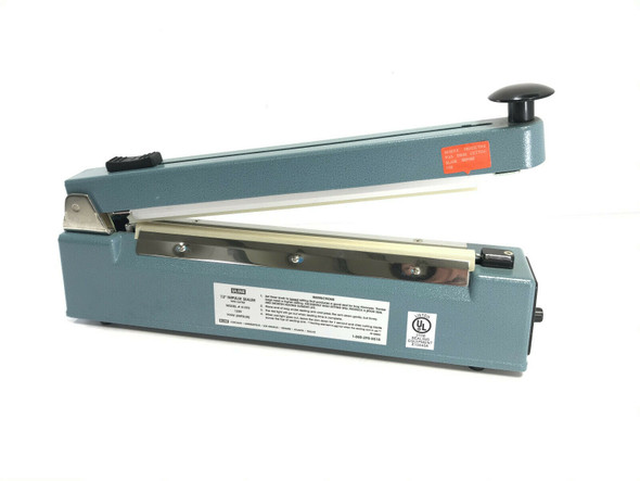 """Uline 12"""" Tabletop Impulse Poly Bag Sealer and Cutter Combo H-293"""
