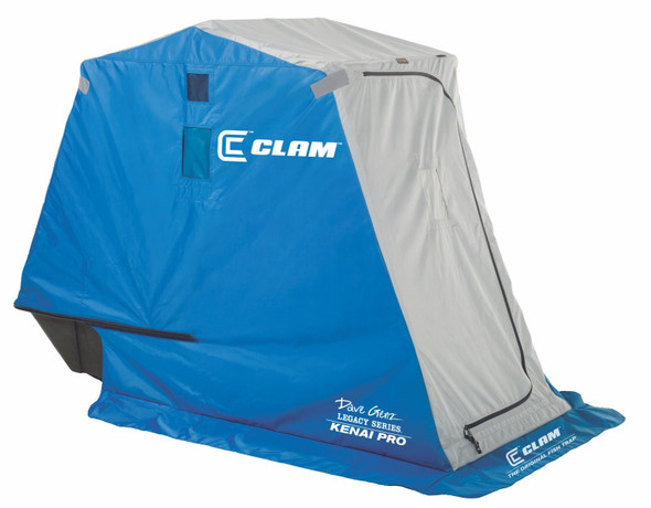 Clam Fish Trap Kenai Pro Portable Ice Shelter (1 Man) (Clam 9710)