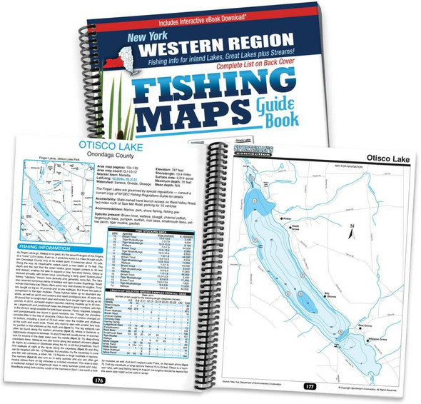 Sportsman's Connection Western New York Fishing Map Guide - Print Edition