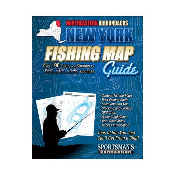New York Northeastern Adirondacks Fishing Map Guide