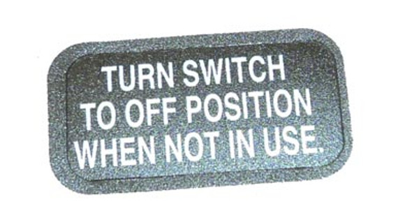 Minn Kota Trolling Motor Part - DECAL-ON/OFF SWITCH - 2266610
