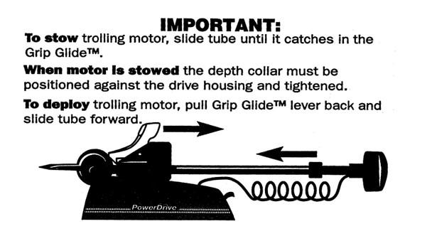 Minn Kota Trolling Motor Part - DECAL-STOW/DEPLOY PD/AP - 2305515