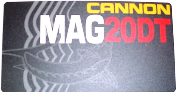 Cannon Downrigger Part 3395620 - DECAL-LARGE MAG 20 DT/HS