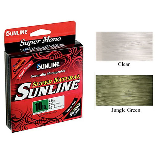 Sunline Super Natural Nylon Monofilament 330 yards