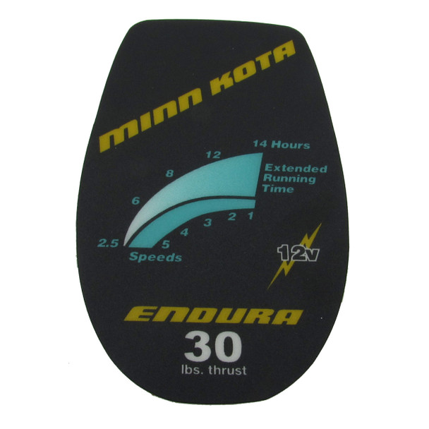 Minn Kota Trolling Motor Part - DECAL COVER ENDURA 30 - #2065532 (2065638)