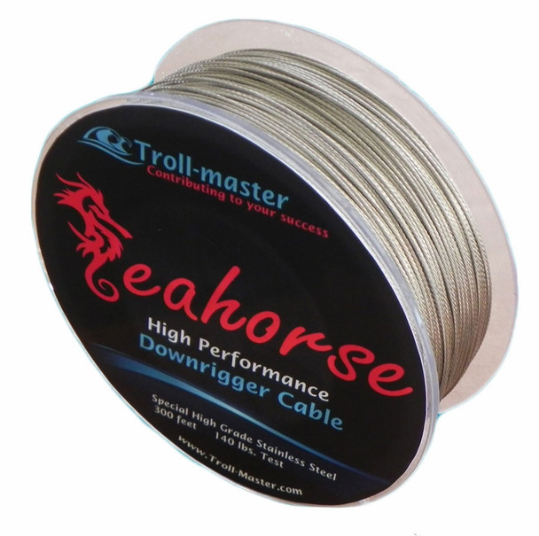 Troll-Master Seahorse® Downrigger Cable – Stainless Steel 300 ft / 140 lbs Test