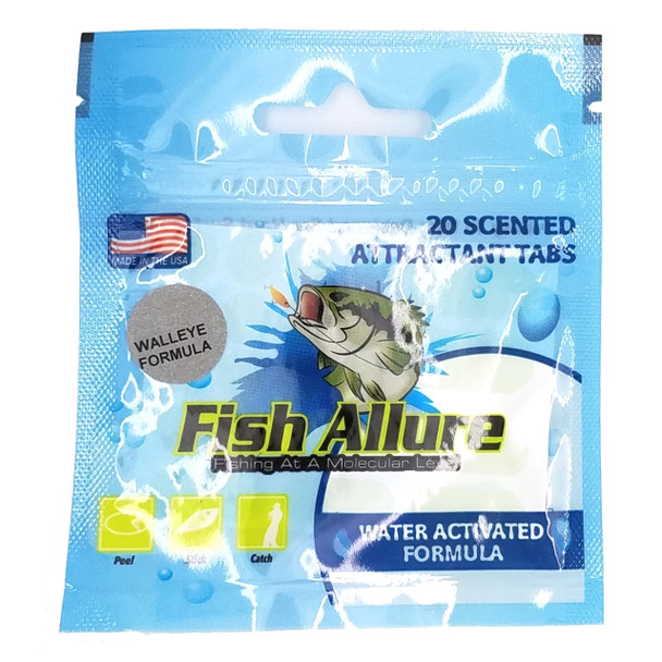 Fish Allure Scented Bait Tape Attractant - Walleye Formula
