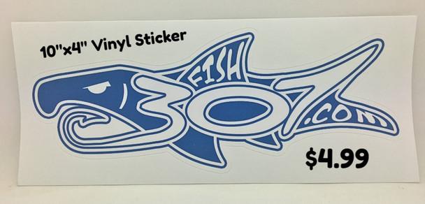 "FISH307.com 10""x4"" Logo Vinyl Sticker"