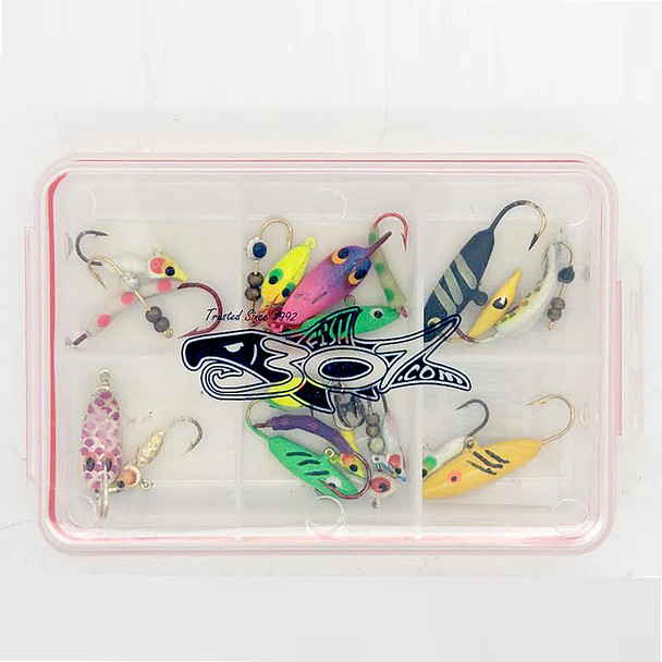 Ice Jig 25 qty Assortment with box