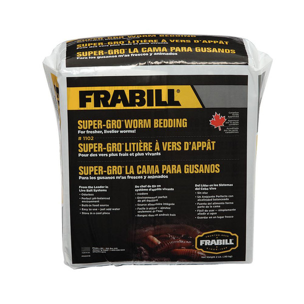Frabill Super-Gro Worm Bedding - 2lbs - 71525