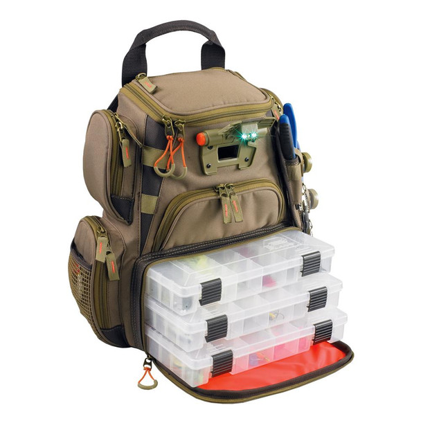 Wild River RECON Lighted Compact Tackle Backpack w/4 PT3500 Trays - 46835