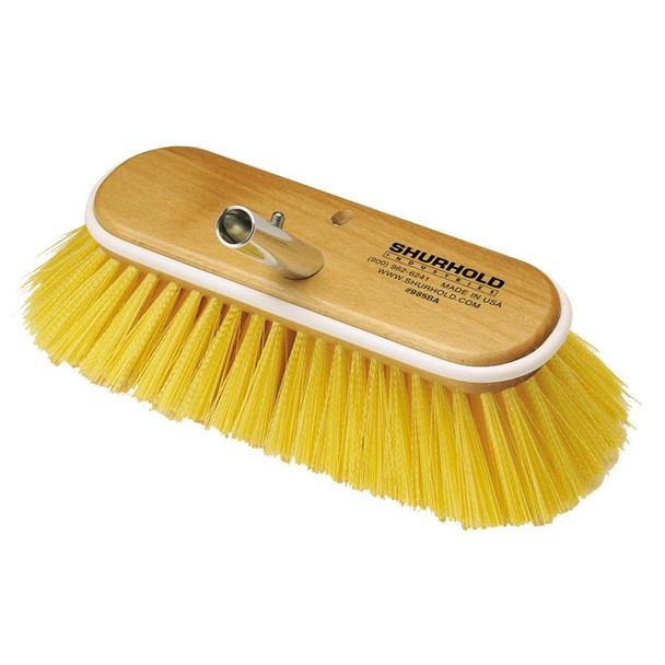 """Shurhold 10"""" Polystyrene Medium Bristle Deck Brush - 32926"""