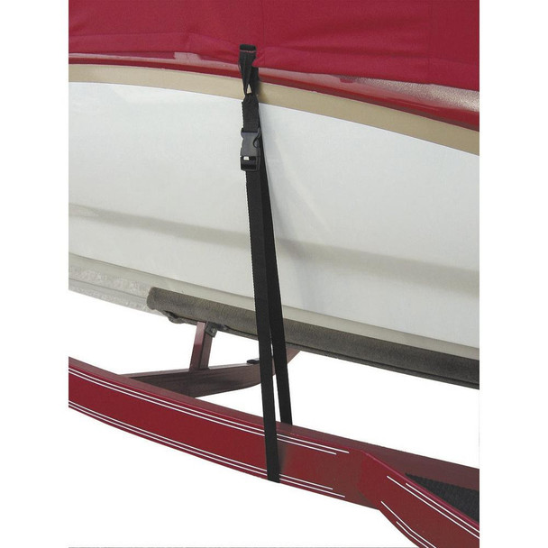 """BoatBuckle Snap-Lock Boat Cover Tie-Downs - 1"""" x 4' - 6-Pack - 35915"""