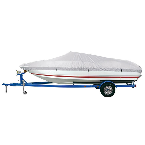"""Dallas Manufacturing Co. Reflective Polyester Boat Cover D- 17'-19' V-Hull & Runabouts - Beam Width to 96"""" - 36864"""