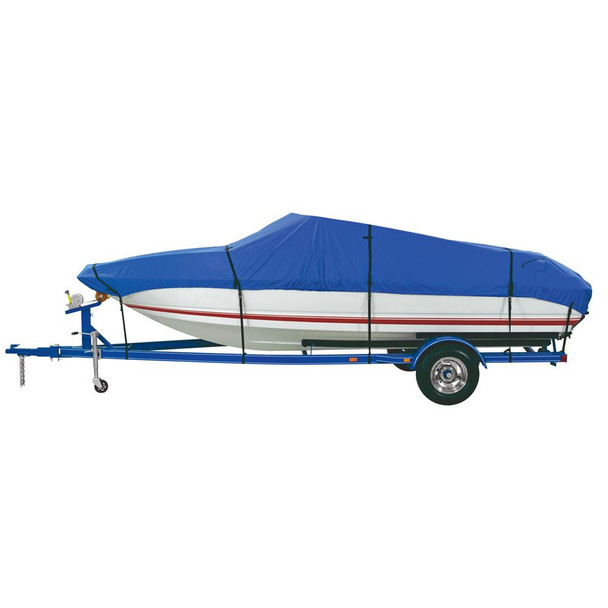 "Dallas Manufacturing Co. Polyester Boat Cover B 14'-16' V-Hull Tri-Hull Runabouts & Alum. Bass Boats - Beam Width to 90"" - 36872"