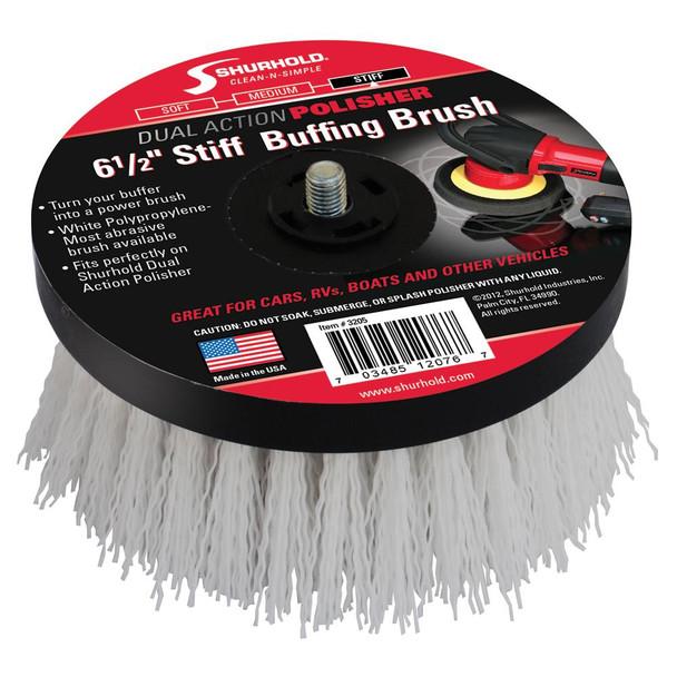 """Shurhold 6-"""" Stiff Brush f/Dual Action Polisher"""