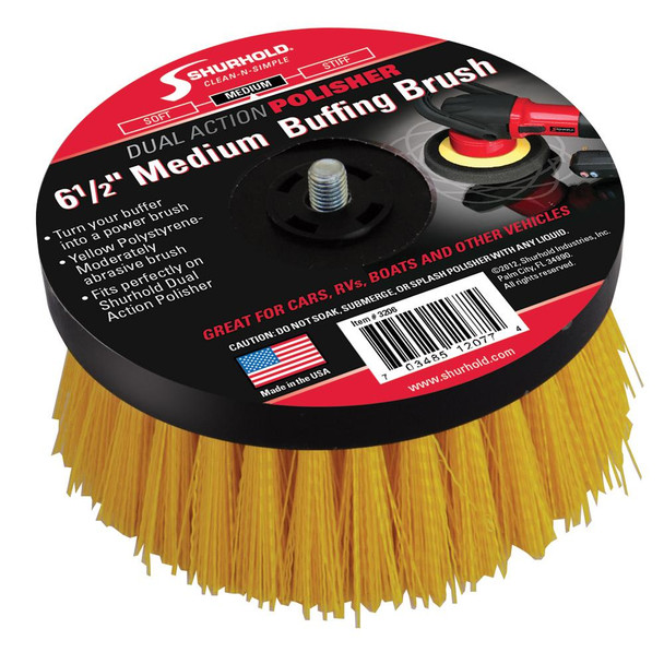 "Shurhold 6-"" Medium Brush f/Dual Action Polisher"