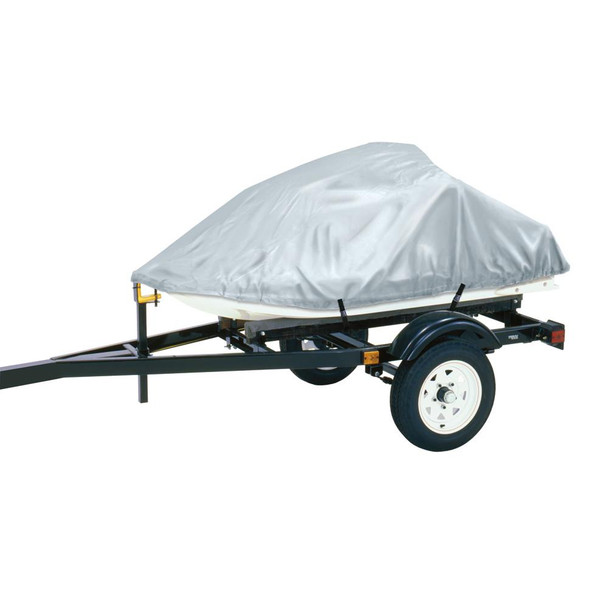 """Dallas Manufacturing Co. Polyester Personal Watercraft Cover B, Fits 3 Seater Model Up To 124""""L x 49""""W x 40""""H - Silver - 59965"""