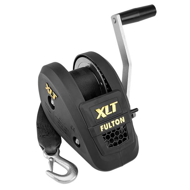 Fulton 1500lb Single Speed Winch w/20' Strap Included - Black Cover