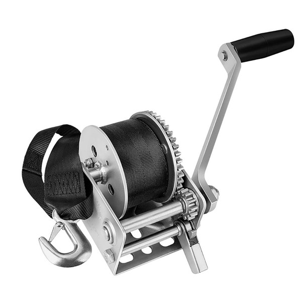 Fulton 900lb Single Speed Winch w/12' Strap f/Personal Watercraft