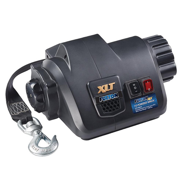 Fulton XLT 7.0 Powered Marine Winch w/Remote f/Boats up to 20'